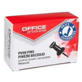 Pinezki Office Products mix kolorów 100szt