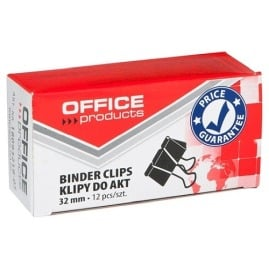 Klipy do dokumentów 32mm Office Products 12szt.